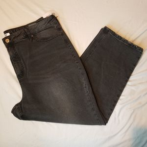 Rickis cropped black jeans size 18 distressed